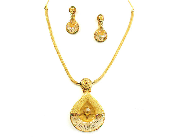 35.00g 22kt Gold Yellow Necklace Set - 180