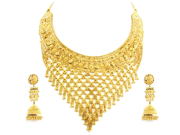 92.40g 22kt Gold Yellow Necklace Set - 182