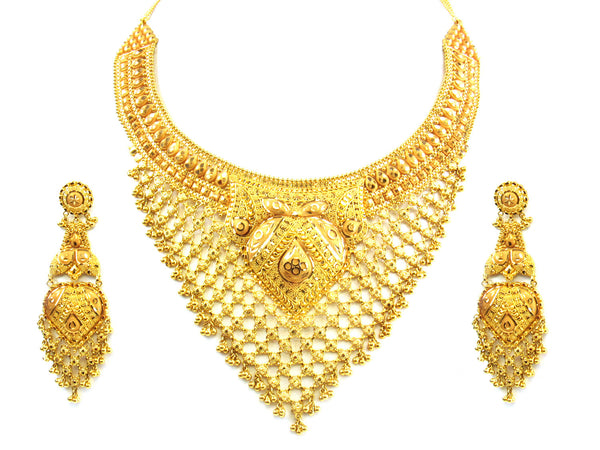 97.80g 22kt Gold Yellow Necklace Set - 186