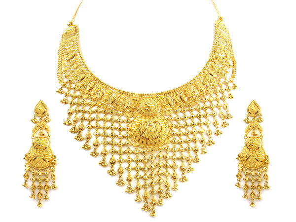 98.00g 22kt Gold Yellow Necklace Set - 187