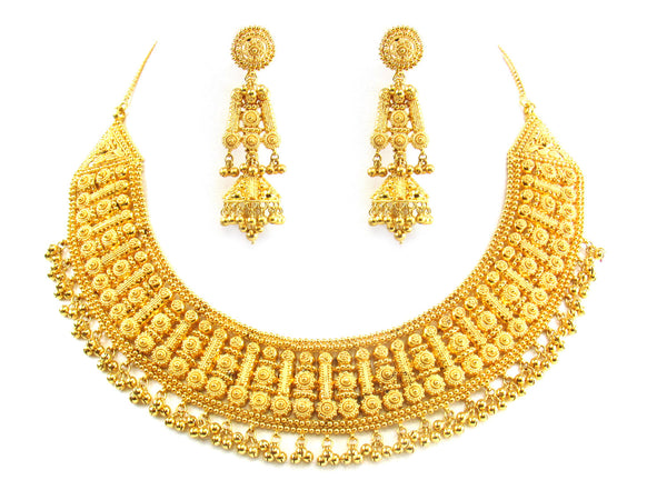 99.20g 22kt Gold Yellow Necklace Set - 189