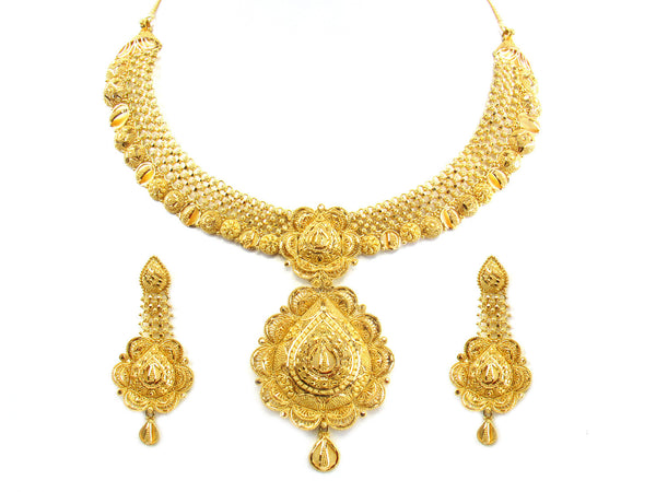 81.00g 22kt Gold Yellow Necklace Set - 190