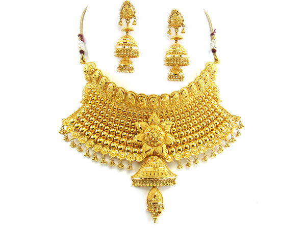 126.40g 22kt Gold Yellow Necklace Set - 196