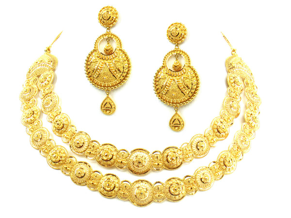 82.60g 22kt Gold Yellow Necklace Set - 197