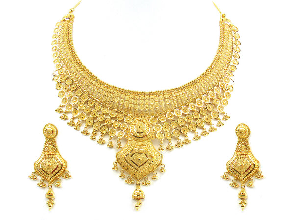 93.20g 22kt Gold Yellow Necklace Set - 200