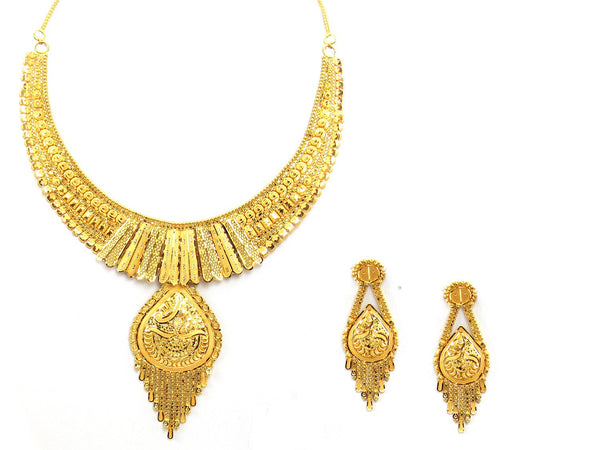 42.10g 22Kt Gold Yellow Necklace Set - 2013