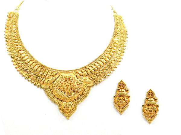 51.50g 22Kt Gold Yellow Necklace Set - 2014