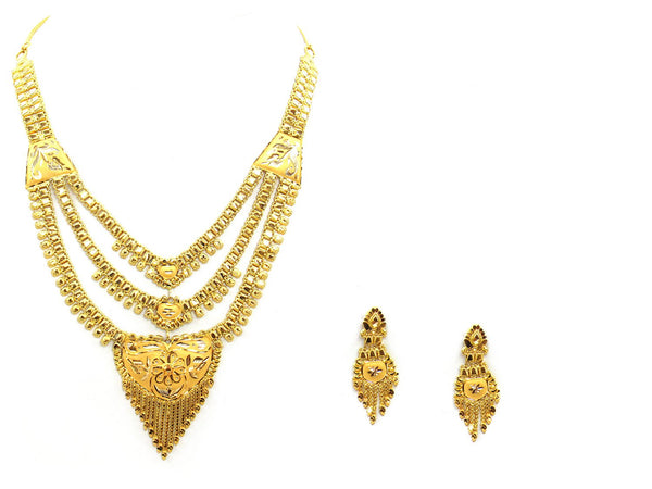 34.20g 22Kt Gold Yellow Necklace Set - 2019