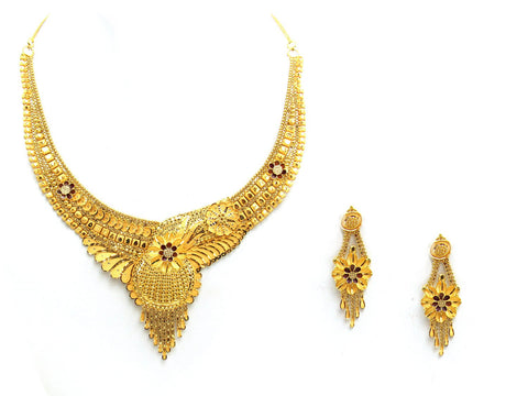 46.50g 22Kt Gold Yellow Necklace Set - 2021