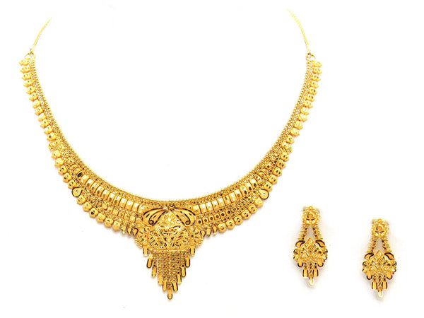 25.60g 22Kt Gold Yellow Necklace Set - 2023