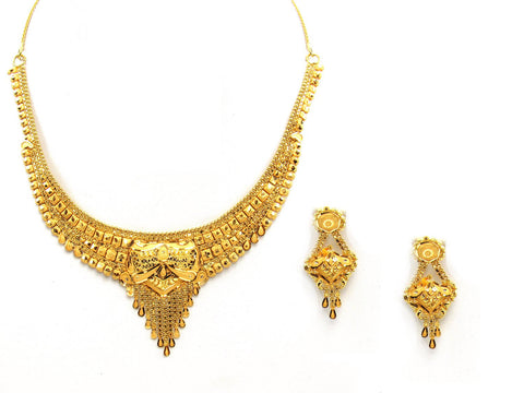 23.80g 22Kt Gold Yellow Necklace Set - 2024