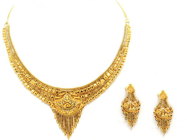 28.20g 22Kt Gold Yellow Necklace Set - 2025