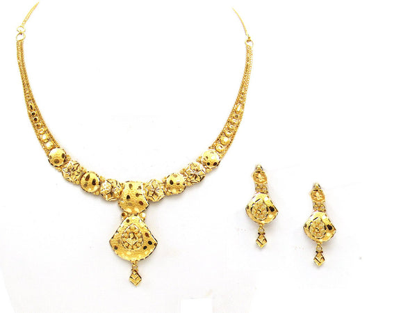 27.10g 22Kt Gold Yellow Necklace Set - 2028