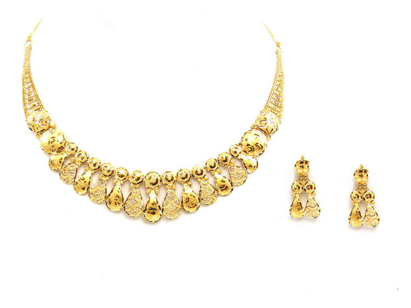 28.00g 22Kt Gold Yellow Necklace Set - 2029