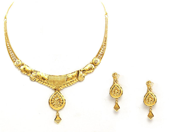 25.30g 22Kt Gold Yellow Necklace Set - 2033