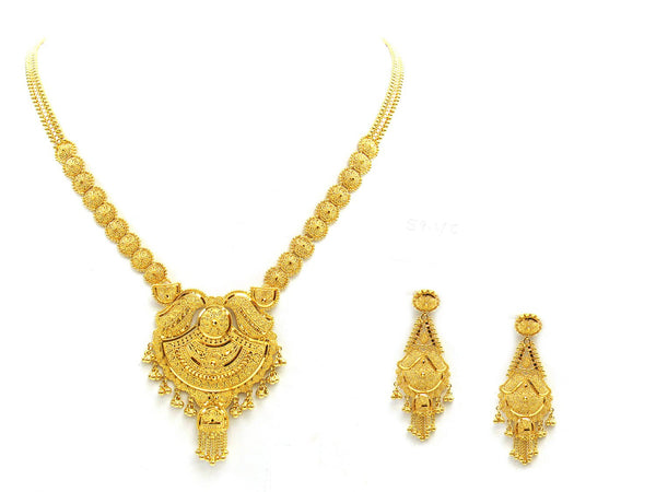 58.40g 22Kt Gold Yellow Necklace Set - 2036