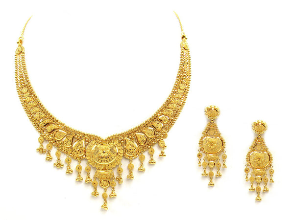 49.20g 22Kt Gold Yellow Necklace Set - 2037
