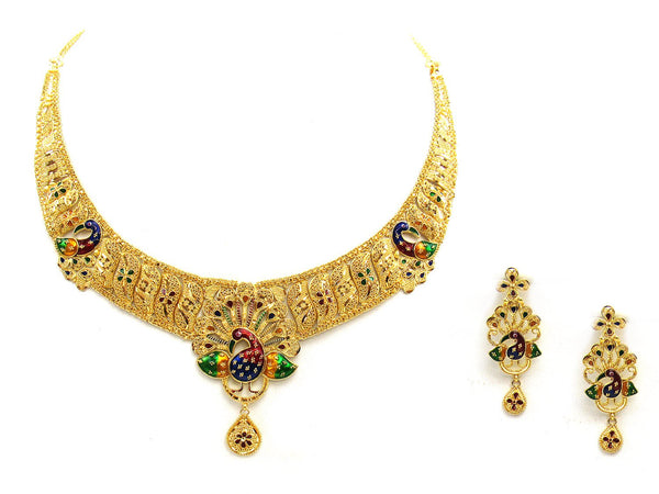47.70g 22Kt Gold Yellow Necklace Set - 2038