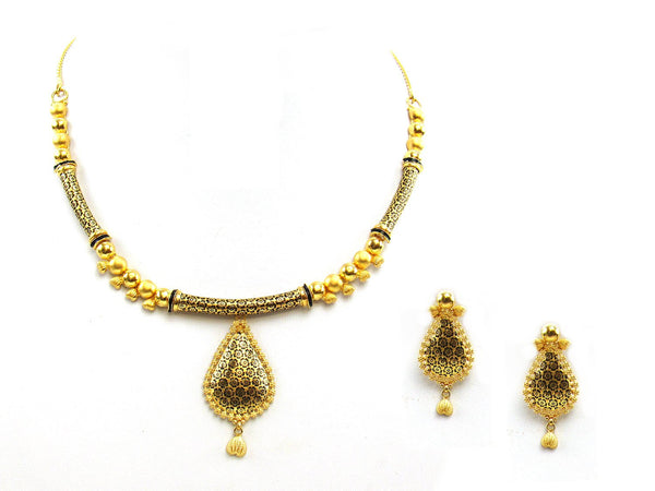 27.20g 22Kt Gold Yellow Necklace Set - 2048