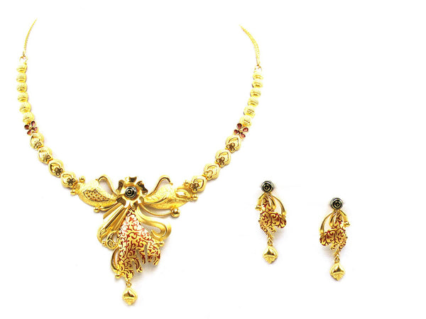 26.50g 22Kt Gold Yellow Necklace Set - 2049