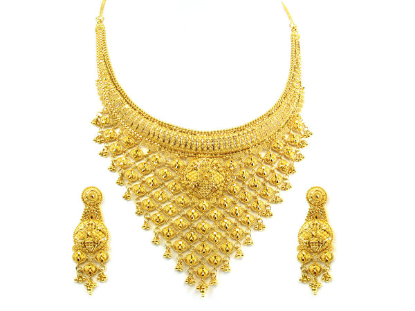82.10g 22kt Gold Yellow Necklace Set - 207