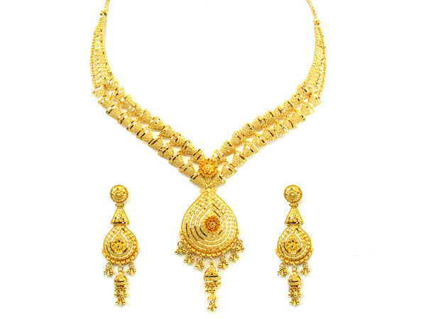 58.10g 22kt Gold Yellow Necklace Set - 209