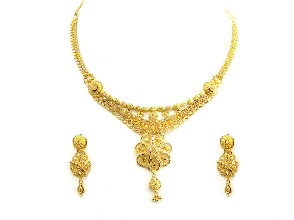30.20g 22Kt Gold Yellow Necklace Set - 212