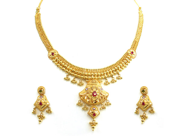 44.10g 22Kt Gold Yellow Necklace Set - 216
