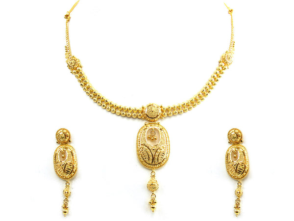 30.20g 22Kt Gold Yellow Necklace Set - 218