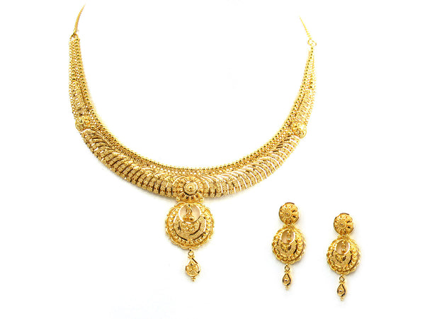 31.80g 22Kt Gold Yellow Necklace Set - 223