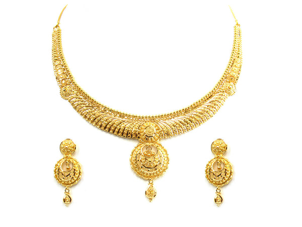35.20g 22Kt Gold Yellow Necklace Set - 228