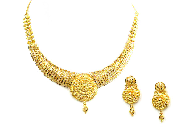 30.35g 22Kt Gold Yellow Necklace Set - 229
