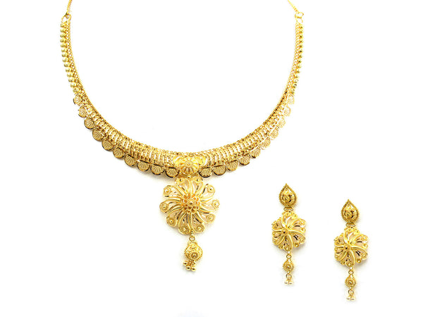 31.30g 22Kt Gold Yellow Necklace Set - 232