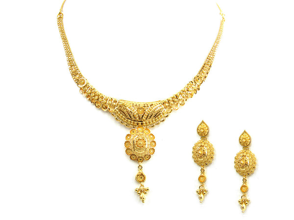 28.10g 22Kt Gold Yellow Necklace Set - 233