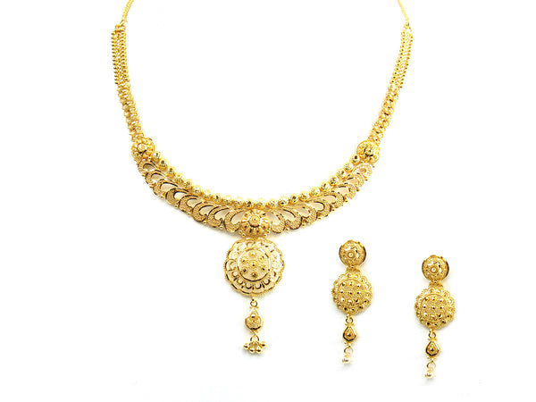28.70g 22Kt Gold Yellow Necklace Set - 238