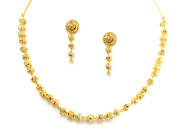 34.85g 22Kt Gold Yellow Necklace Set - 244