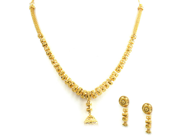 43.10g 22Kt Gold Yellow Necklace Set - 245