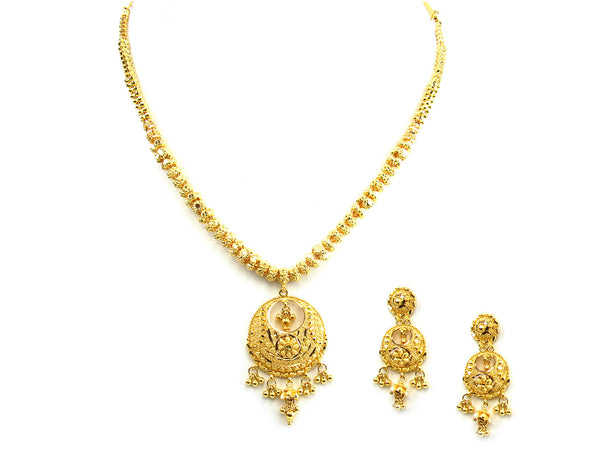 32.00g 22Kt Gold Yellow Necklace Set - 246