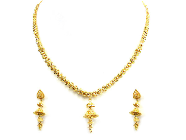 30.40g 22Kt Gold Yellow Necklace Set - 247