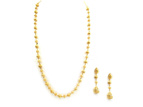 51.20g 22Kt Gold Yellow Necklace Set India Jewellery