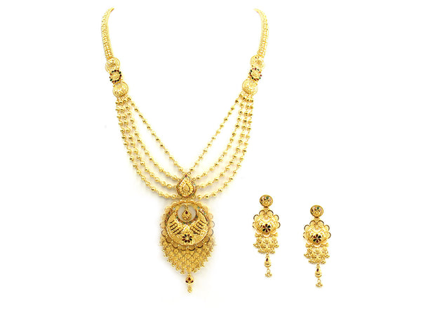 77.90g 22Kt Gold Yellow Necklace Set - 251