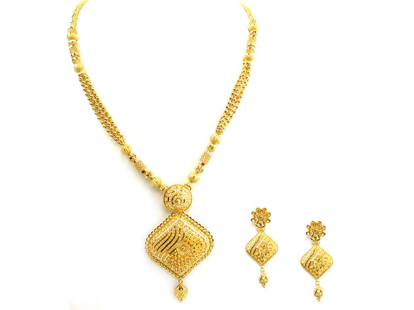 70.20g 22Kt Gold Yellow Necklace Set - 252