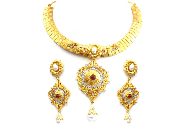 114.40g 22Kt Gold Yellow Necklace Set - 255