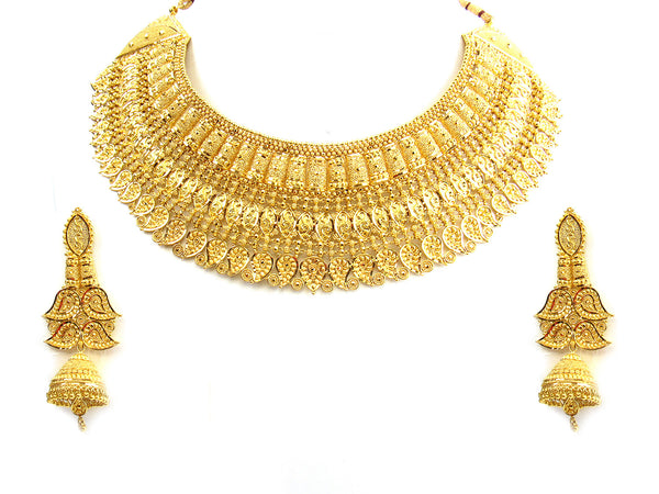 157.30g 22Kt Gold Yellow Necklace Set - 257