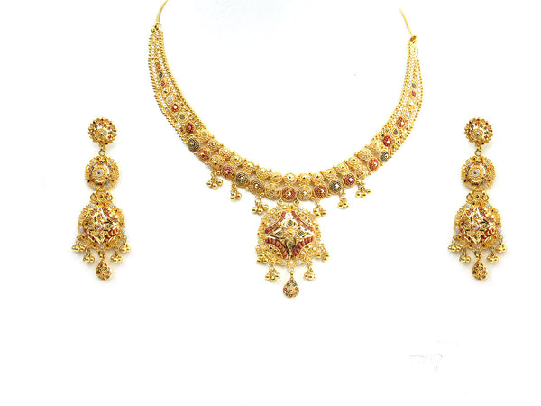 49.40g 22Kt Gold Yellow Necklace Set - 263