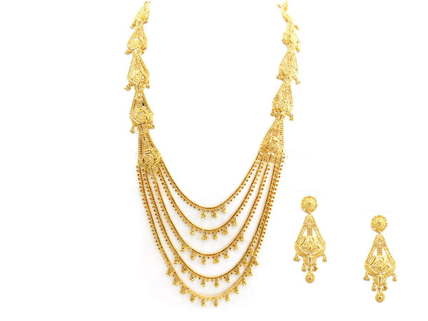 93.40g 22Kt Gold Yellow Necklace Set - 264