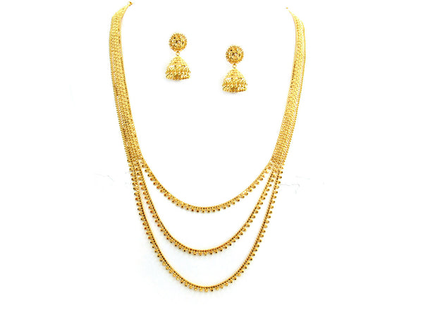 52.80g 22Kt Gold Yellow Necklace Set - 273
