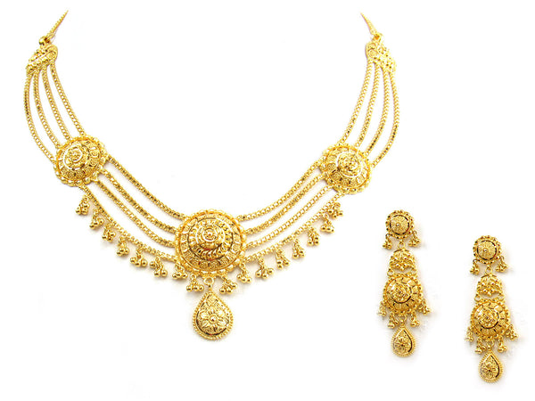 48.70g 22Kt Gold Yellow Necklace Set - 274