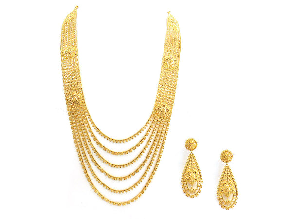 98.10g 22Kt Gold Yellow Necklace Set - 276