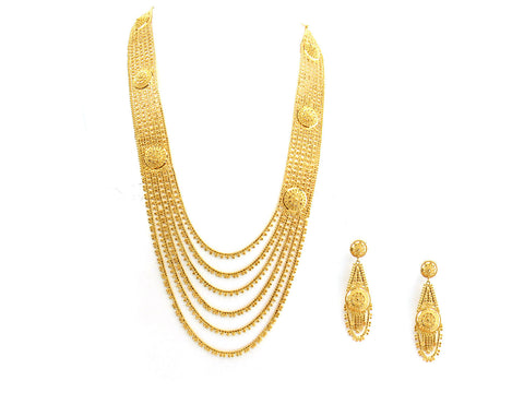 94.20g 22Kt Gold Yellow Necklace Set India Jewellery
